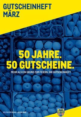 Metro Gutscheinheft März