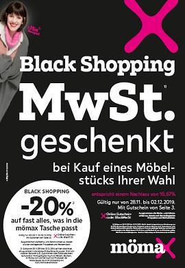 Mömax Black Shopping