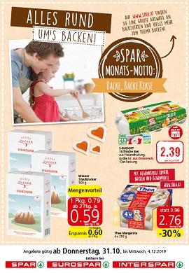 Spar Prospekt Backen